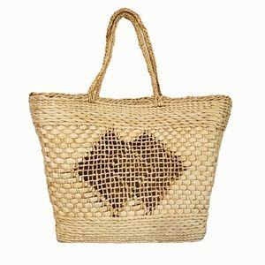 Large Seagrass Basket Woven Tote Bag Purse